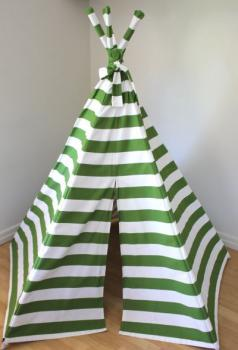 Finlee and Me- Kids Teepees- Teepee Tents {Green and White}