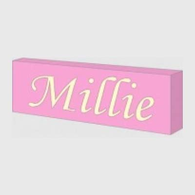 Pink personalised night light