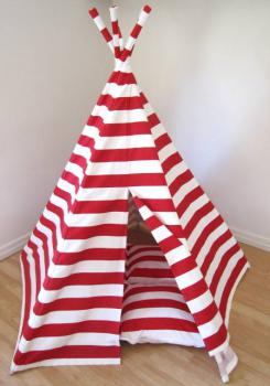 Finlee and Me- Kids Teepees- Teepee Tents {Red and White}