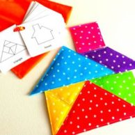 Finlee and Me – Educational Toys – Fabric Tangram Set