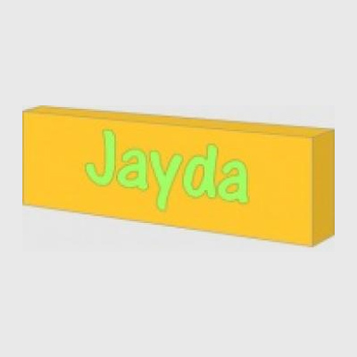 Yellow personalised night light