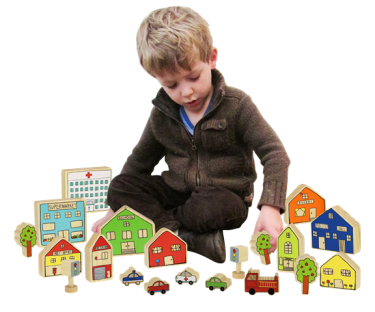 The Village Play Blocks
