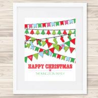 christmas bunting print