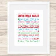 christmas rules print