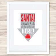 leave gifts here print