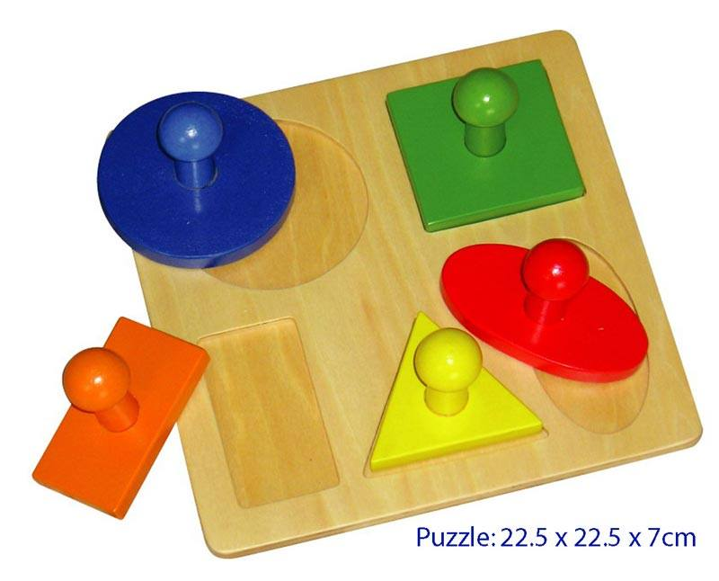 Finlee and Me – Wooden Toys – Shape Puzzle