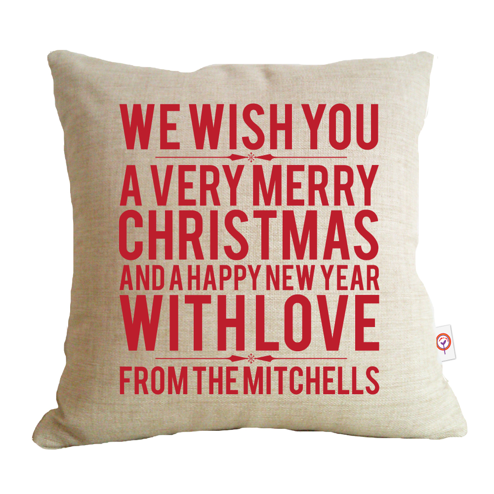 we wish you christmas cushion
