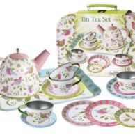 Finlee and Me – Kids Tea Sets – Childrens Tin Tea Set {Vintage Birds}
