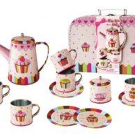Finlee and Me – Kids Tea Sets – Childrens Tin Tea Set {Cupcakes}