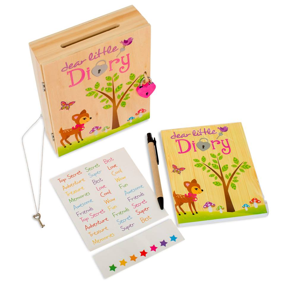 educational toys for 4 year olds locked-diary-for-kids-deer