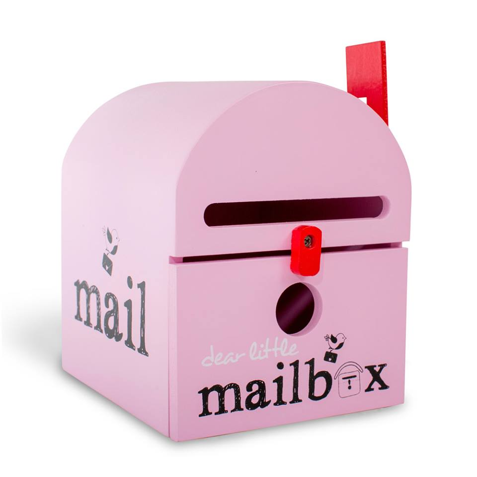 wooden-pink-mailbox-for-kids