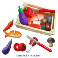 Finlee and Me- Wooden Play Kitchen- Food Cutting Set {Vegetables and Meat}
