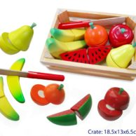 Finlee and Me- Wooden Kids Kitchen- Play Food {Fruit Cutting Set}