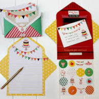 Party-bunting-letter-writing-pad