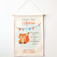 fox-birth-print-wall-banner