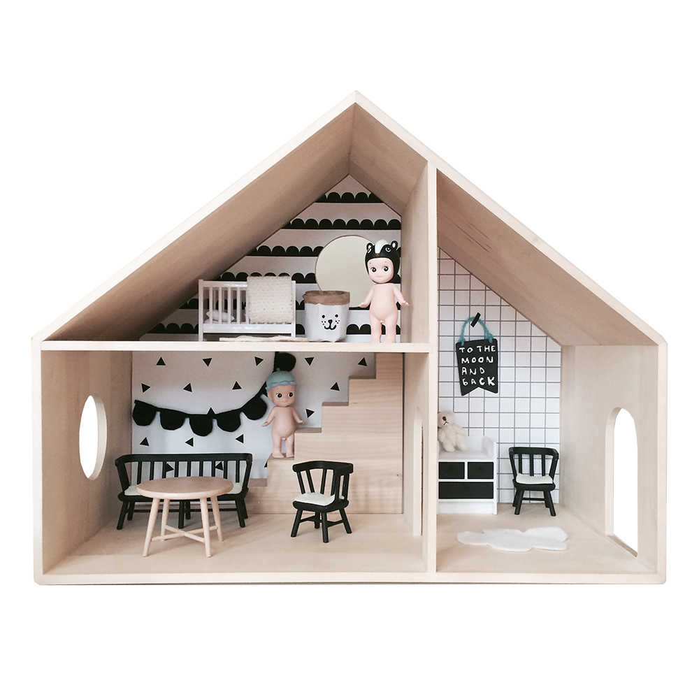 Finlee and Me – Wooden Dolls Houses – Homely Creatures Kids Dollhouse