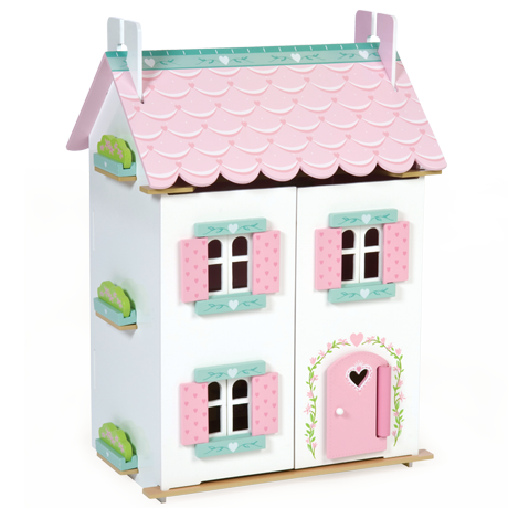 Finlee and Me – Wooden Dolls Houses – Le Toy Van Kids Dollhouse {Sweetheart Cottage MAIN