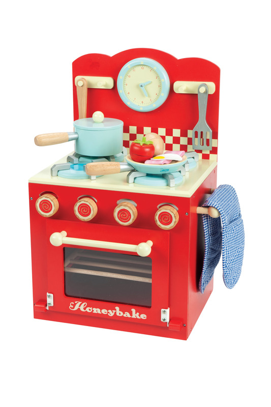 le-toy-van-kids-wooden-kitchen-toys-oven-and-hob-set-red