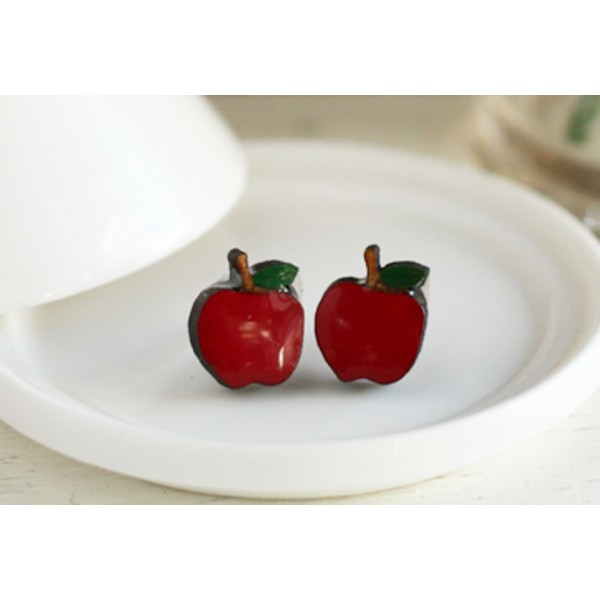 apple-earrings-red
