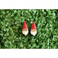 gnome-head-earrings-painted