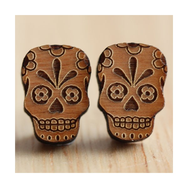 mexican-fiesta-sugar-skull-earrings-wooden