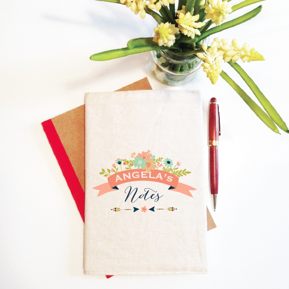 personalised-notebook-and-reusable-cover-floral-banner