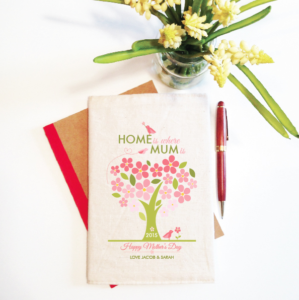 personalised-notebook-and-reusable-cover-home-is-where-mum-is