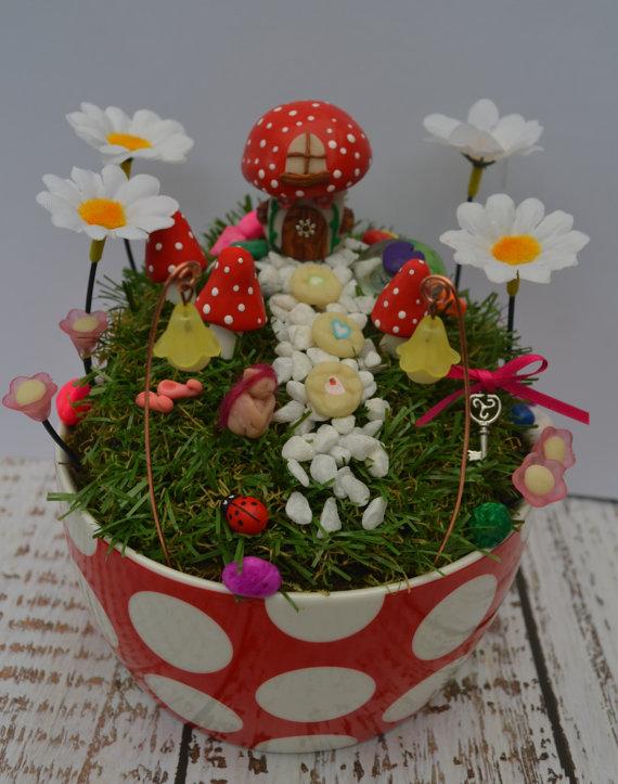 Finlee And Me U2013 Fairy Garden Kits U2013 Mushroom House Fairy Garden Kit
