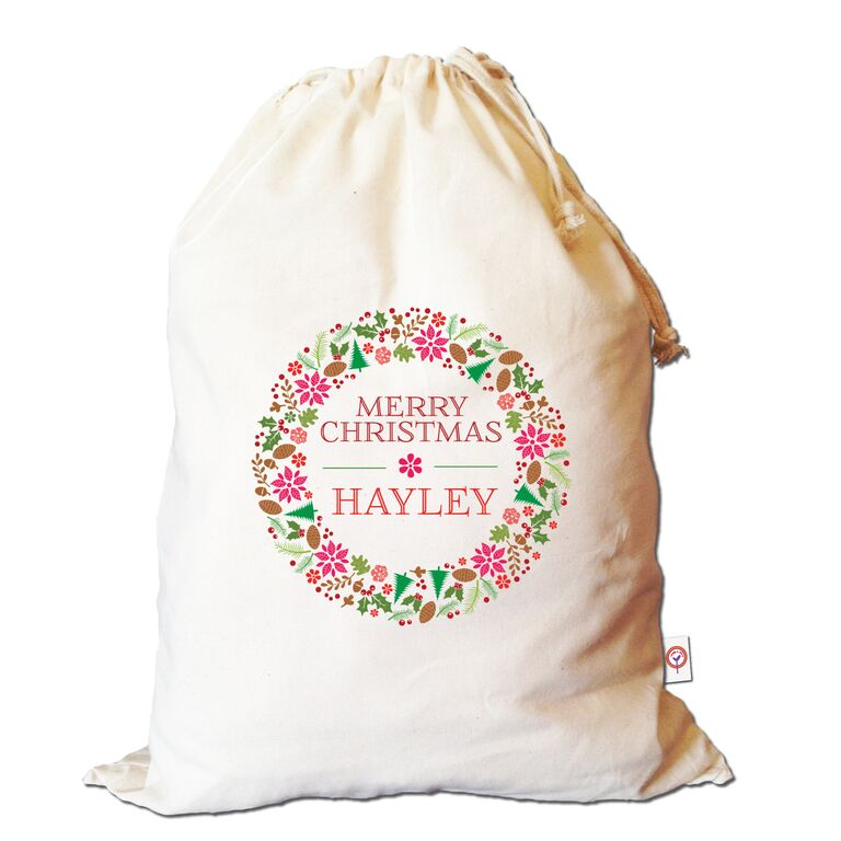 floral-christmas-wreath-santa-sack