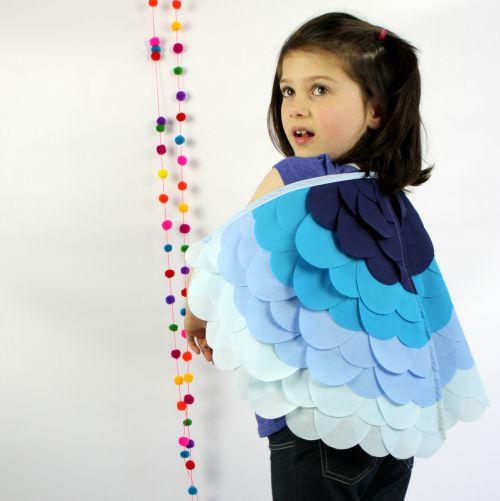Kids Costumes Dress Up Rainbow Bird Wings BLUEBIRD