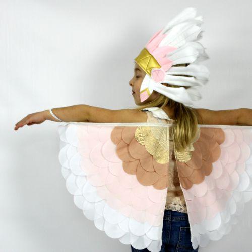 Kids Costumes Dress Up Rainbow Bird Wings BLUSH