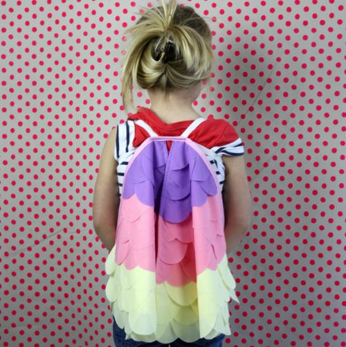 Kids Costumes Dress Up Rainbow Bird Wings CANDY