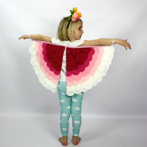 Kids Costumes Dress Up Rainbow Bird Wings CHERUB