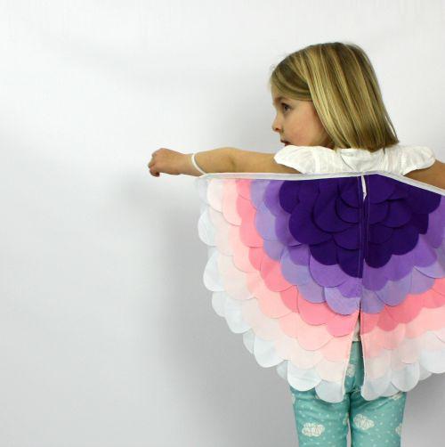 Kids Costumes Dress Up Rainbow Bird Wings PETALS