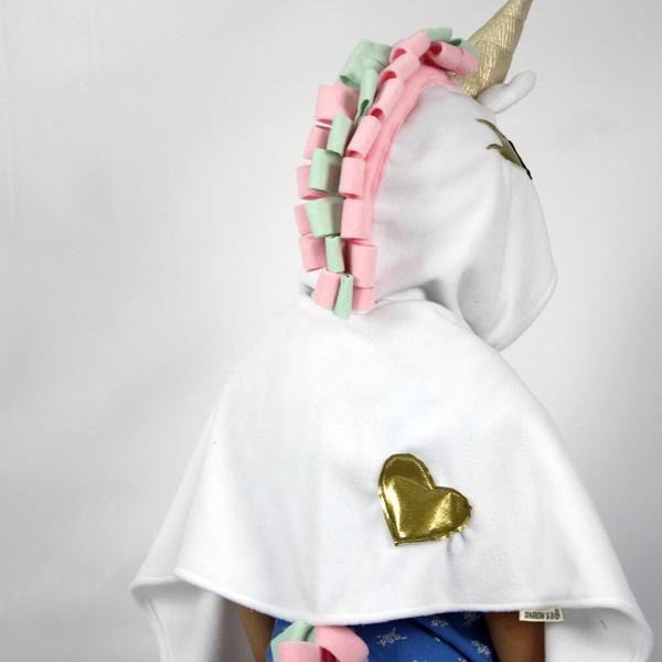 Kids Costumes- Minty Unicorn Cape Dress Up Costume