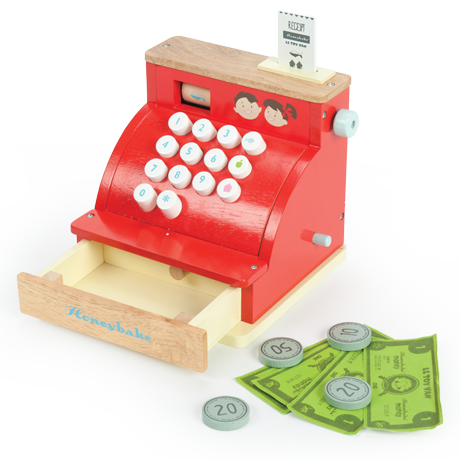 Le Toy Van Wooden Toys Honeybake Cash Register