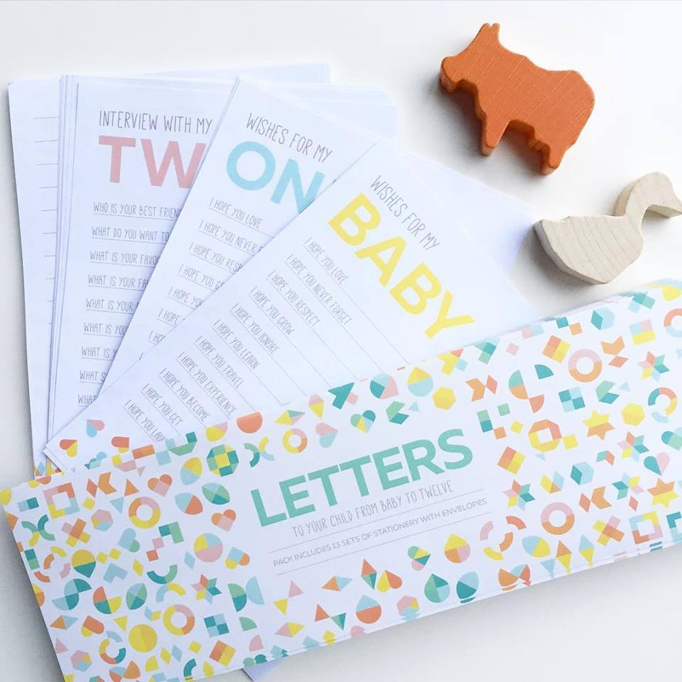 Letter to Your Child Keepsake Letters: Baby Shower Gift Ideas