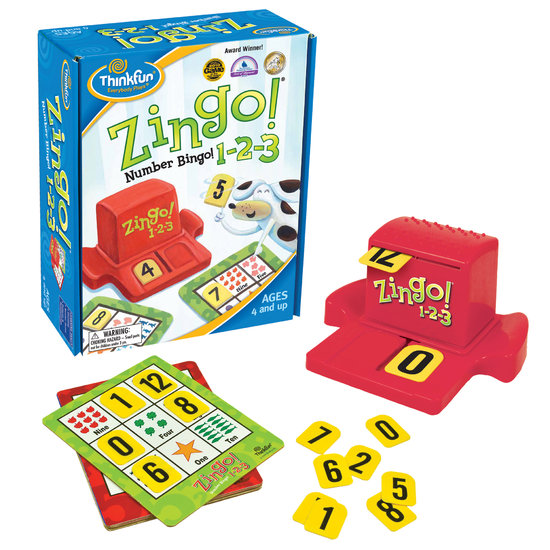 Thinkfun Games for Kids -Zingo! 1-2-3 Game