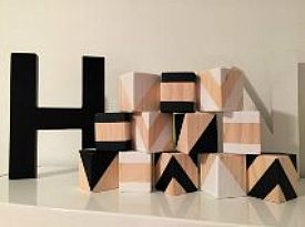 Wooden Toys Monochrome Building Blocks Collection