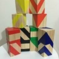 Wooden Toys Primary Colours Building Blocks Set
