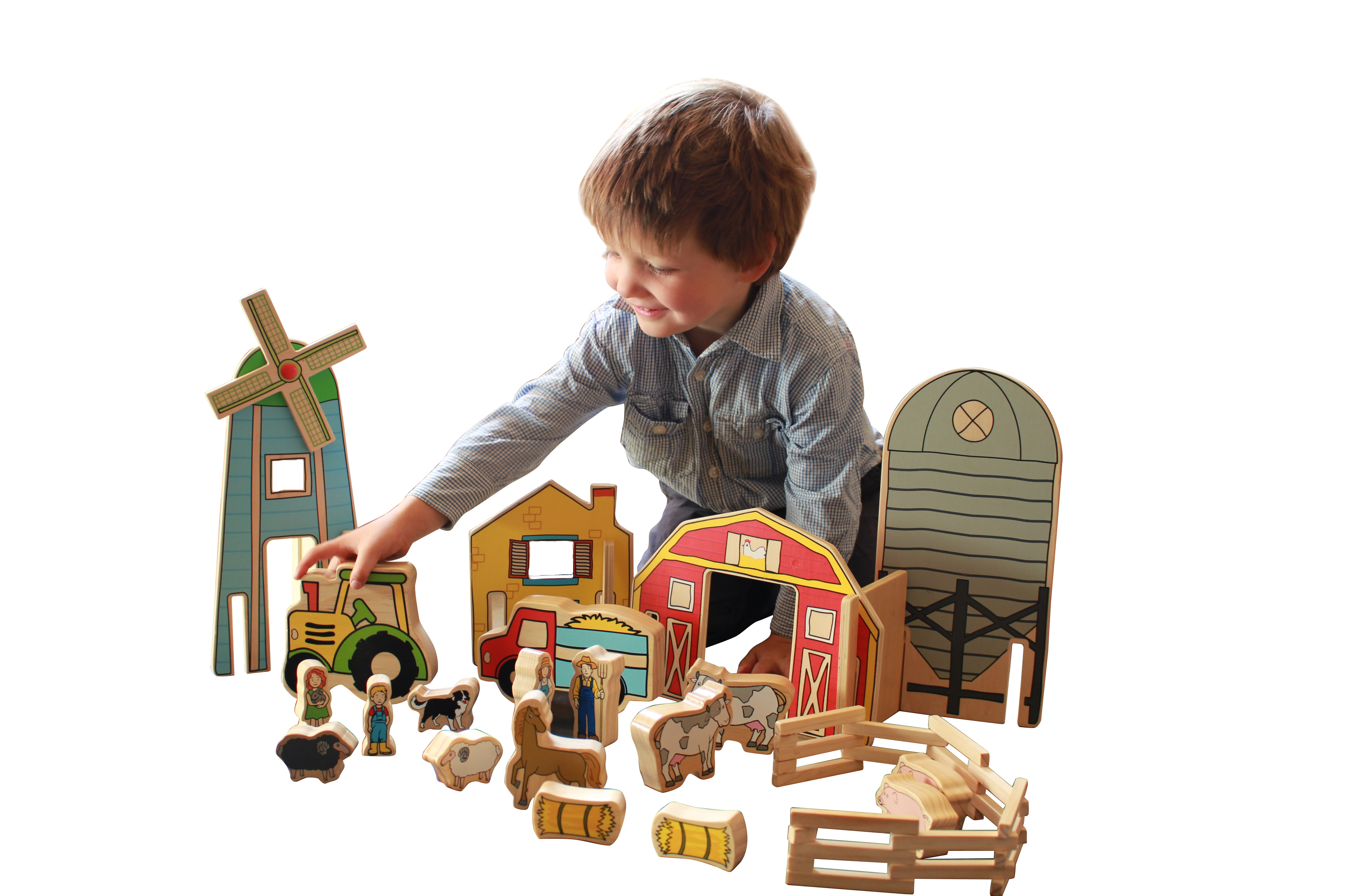 Wooden Toys The Happy Architect Farm Finlee and Me