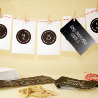 Christmas Countdown Advent Calendar – Chalkboard Style