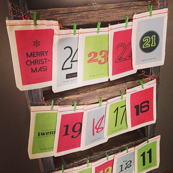 Christmas Countdown Advent Calendar Vintage