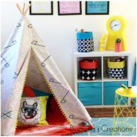 Finlee and Me Kids Teepees Geometric Teepee