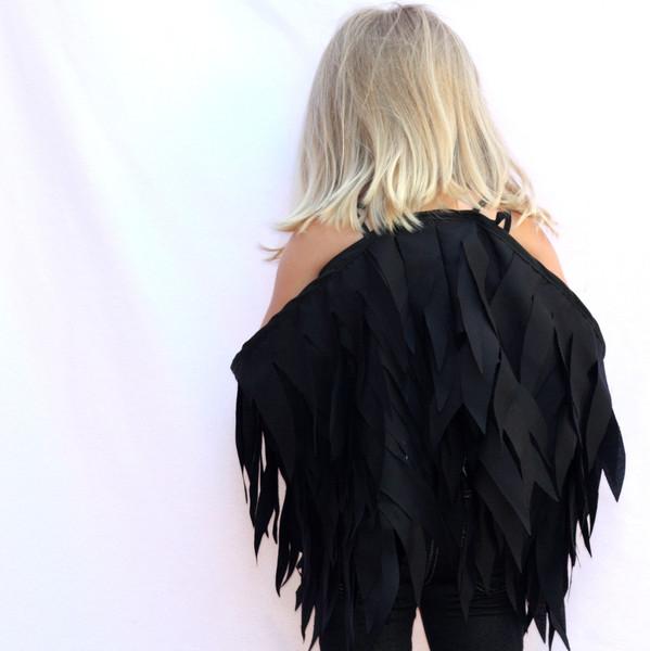 Kids Costumes Raven Wings Black