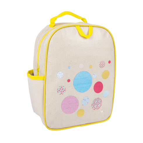 Apple and Mint-Kids Backpacks- Little Kid Backpack Yellow Polka Dot MAIN