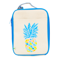Apple and Mint Kids Lunchboxes Reusable Lunch Bag Blue Pineapple