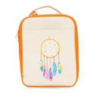 Apple and Mint Kids Lunchboxes Reusable Lunch Bag Peach Dreamcatcher