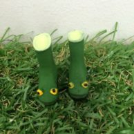 Finlee and Me Fairy Doors Accessories Gum Boots Green