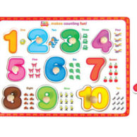 Finlee and Me Puzzles for Kids Number Peg Puzzle
